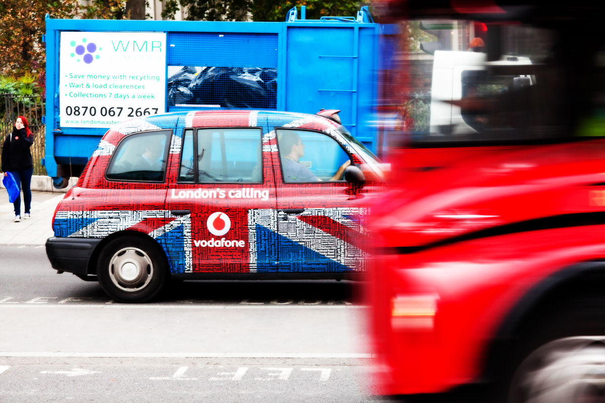 London Taxi and bus
